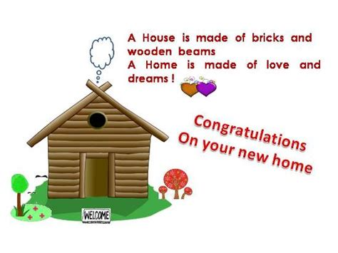 congratulations on new home message
