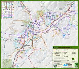 arizona snowbowl trail map flagstaff trails and bikeways map mappery