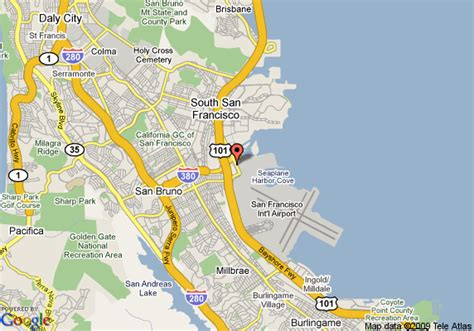 san francisco map with airport ramada limited suites san francisco airport south san