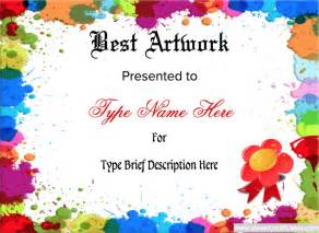 best art award template