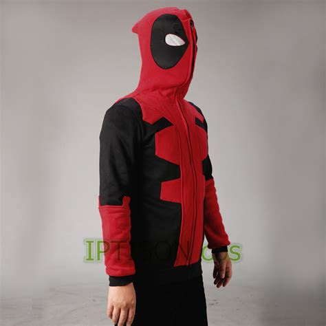 Zipper Marvel Jaket Hoodie 2017 deadpool hoodie marvel hooded sweatshirt zipper outerwear jacket 3d anime characters