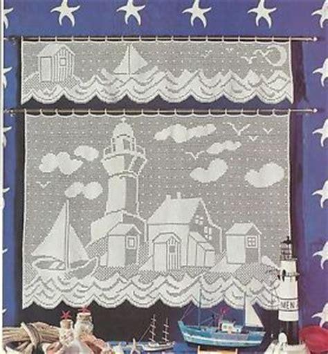free filet crochet curtain patterns filet crochet pattern lighthouse valance curtain