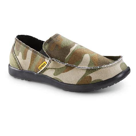 canva ucsc crocs santa cruz slip on shoes camo green 637625