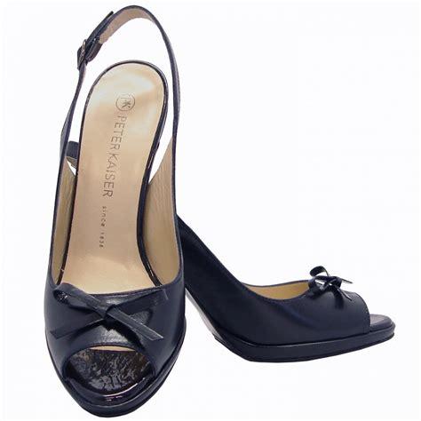 navy blue peep toe shoes high heels is heel