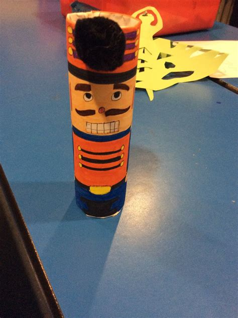 paper rolling craft nutcracker made in toilet paper roll crafts