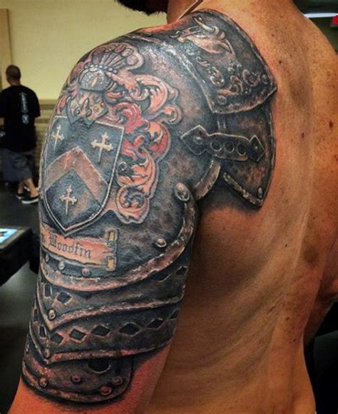 51 graceful armor shoulder tattoos