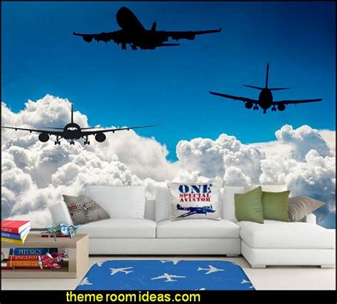 airplane wall murals decorating theme bedrooms maries manor airplane theme