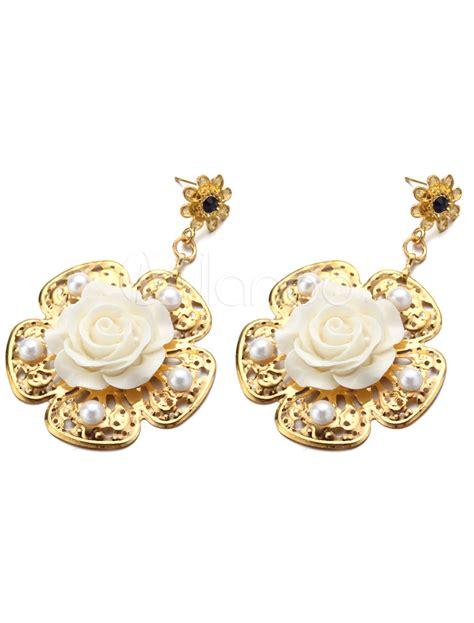 Perlen Ohrringe F 252 R Die Braut Zur Hochzeit Bei by Gold Ohrringe Braut Perle Hochzeitsschmuck Ablegen 7