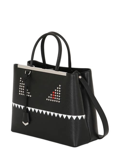 Ck Fendi Jour By Honshop fendi black 2jours medium tote in black lyst