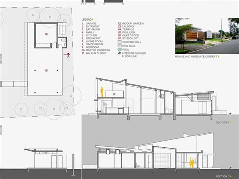 Floor Plan Modern House Alhambra House Modern Architecture With Floor To Ceiling