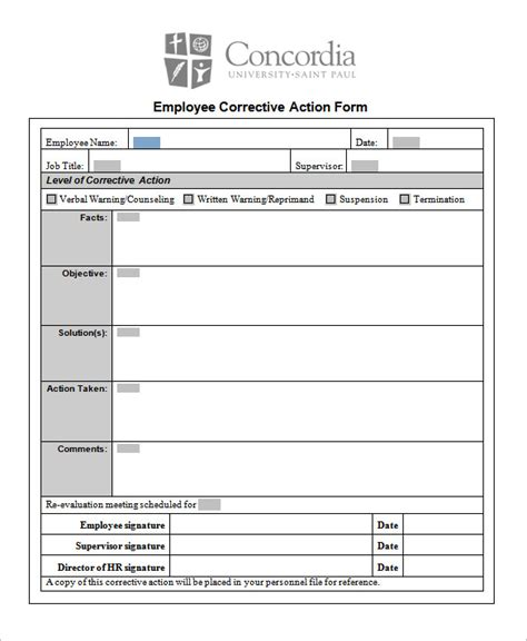85 Action Plan Templates Word Excel Pdf Free Premium Templates Corrective Form Template