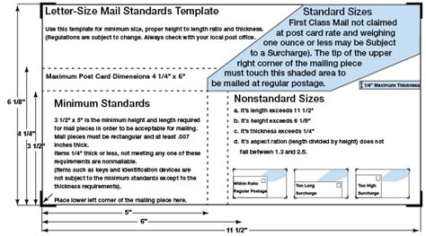 usps direct mail templates standard postal specs post office requirements western
