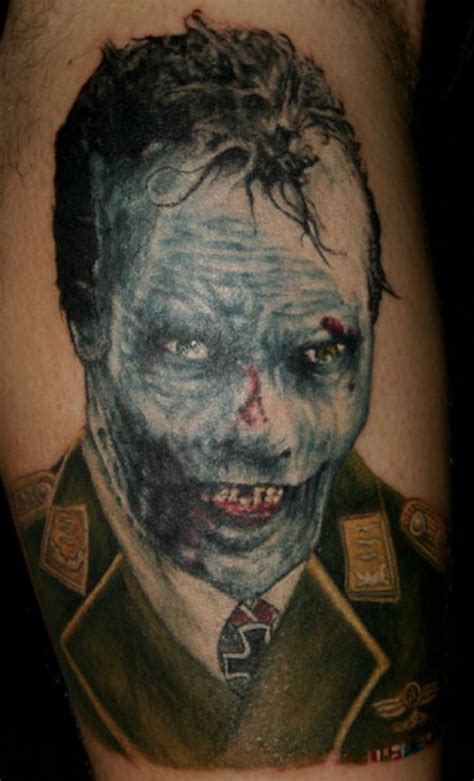 zombie tattoo gallery 20 gruesome zombie tattoos damn cool pictures