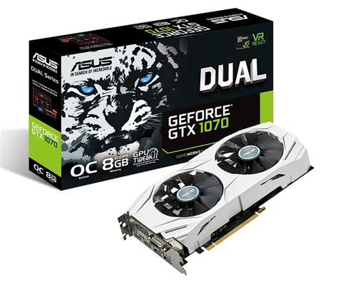 Vga Nvidia Geforce Asus Gtx 1070 Dual Oc 8gb asus launches geforce gtx 1070 dual videocardz