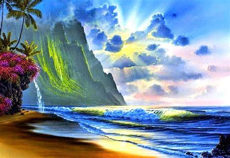 imagenes de paisajes limdos cuadro pintura paisajes bonitos de verano playa