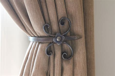 drapery hold backs custom holdbacks traditional curtain rods toronto