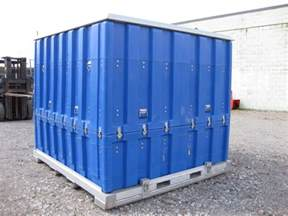 large shipping storage stage two part container box used
