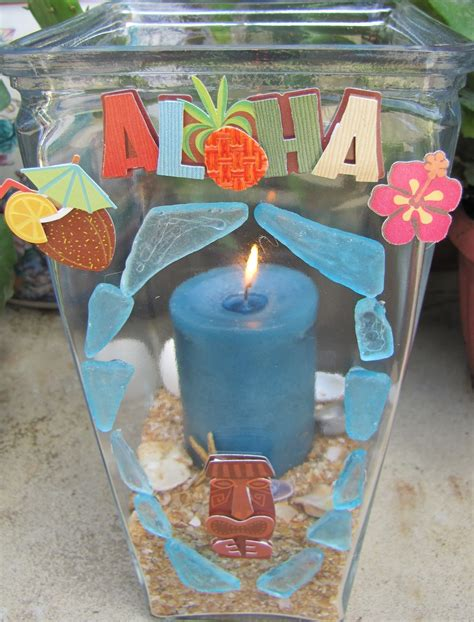 luau crafts for crafts and digital dollars luau hurricane candle