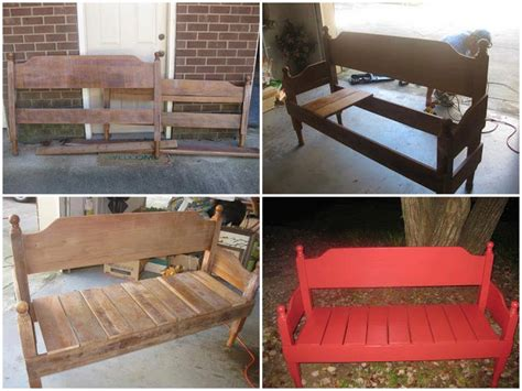 old headboard projects diy new bench using old headboards find fun art projects