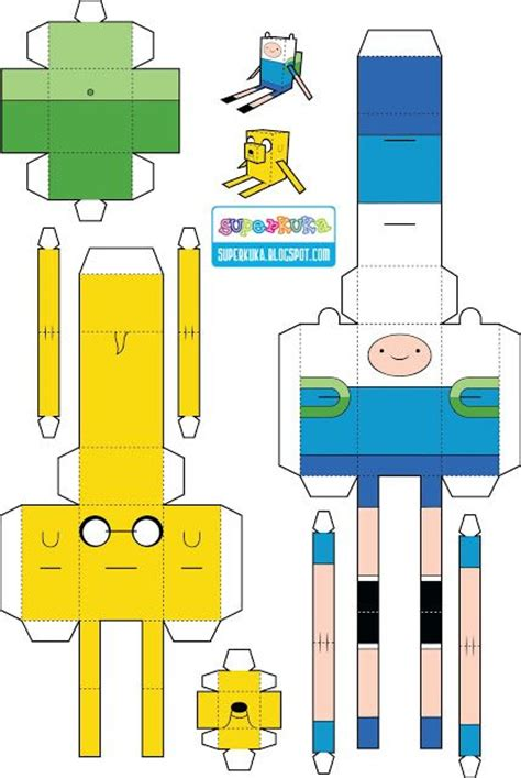 adventure time paper craft adventure time paper molde paper