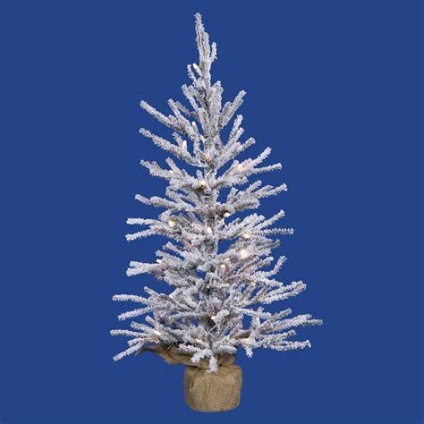 2 foot flocked angle pine christmas tree unlit b105224