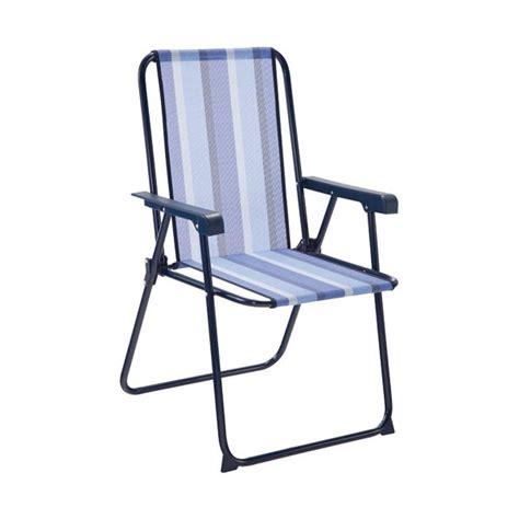 fauteuil pliant avec dossier haut acier bleu 421 tx