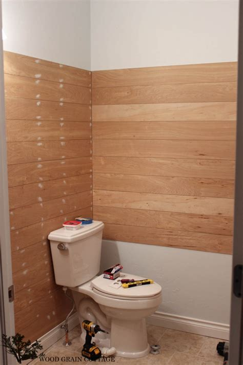 Bathroom Shower Ideas powder bathroom plank walls amp a sneak peak the wood