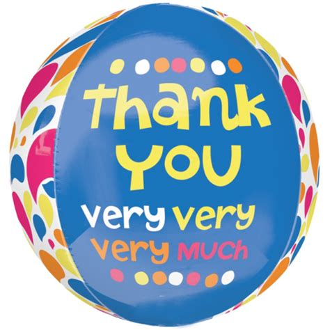 Thank You Letter Balloons 16 thank you much orbz foil balloon 8811 p png