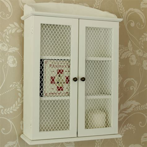 small white mesh fronted wall cabinet melody maison 174