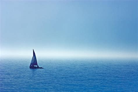 sailboat on water sailboat on the water wahnekewaning photograph by mike