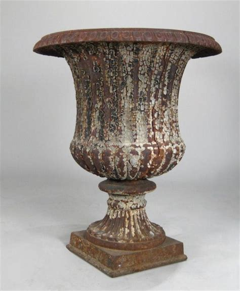 Garden Urns For Sale by 2 Cast Iron Classical Garden Urns For Sale At 1stdibs