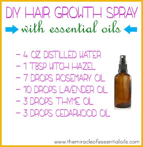 recipes for hair thickeners natural diy essential oil hair growth spray recipe the
