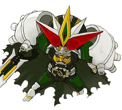 Kaos Kamen Rider 19 safebooru cape chibi kamen rider kamen rider den o