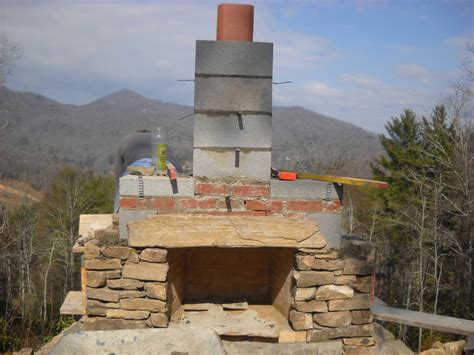 building outdoor fireplace living masonry stonetutorials