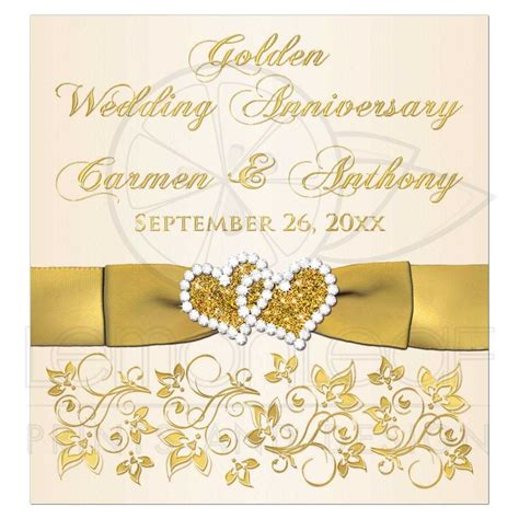 wedding anniversary jewels golden wedding anniversary wine or beverage bottle label