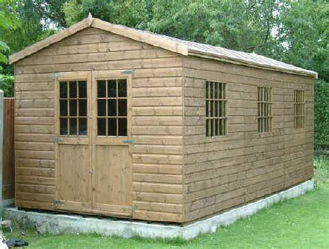 How To Build A Garden Shed Uk by 24 X 11 Apex Garden Shed With Georgian Windows And Doors