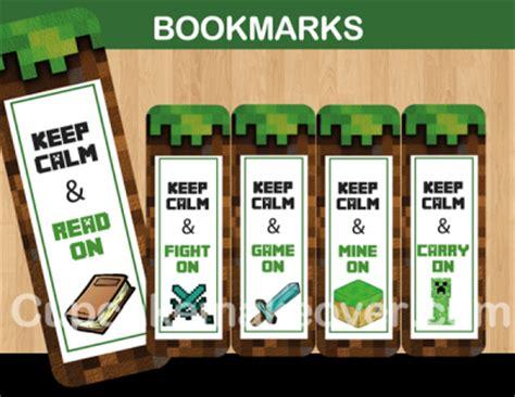 printable bookmarks minecraft 8bit minecraft bookmarks