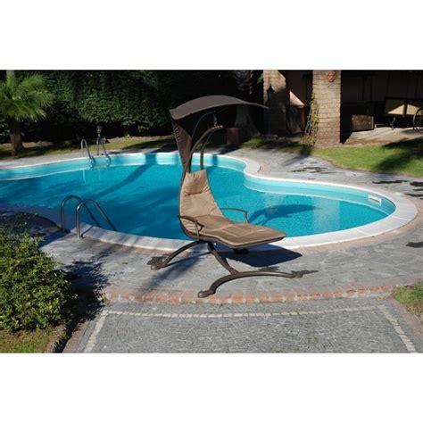 amaca design amaca giardino piscina in metallo con supporto e tettuccio