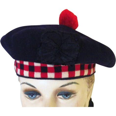 vintage scottish wool balmoral hat or bonnet sold on ruby