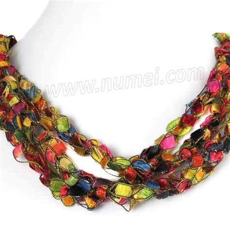 Handmade Ribbon - handmade ribbon necklace ee8596