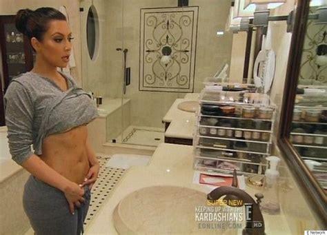kim kardashian makeup organizer in her bathroom kim kardashian isn t afraid to show her psoriasis