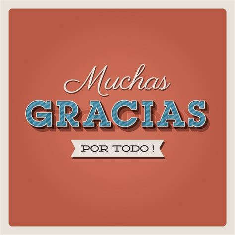 gracias card template thank you card with font typography and ribbon muchas