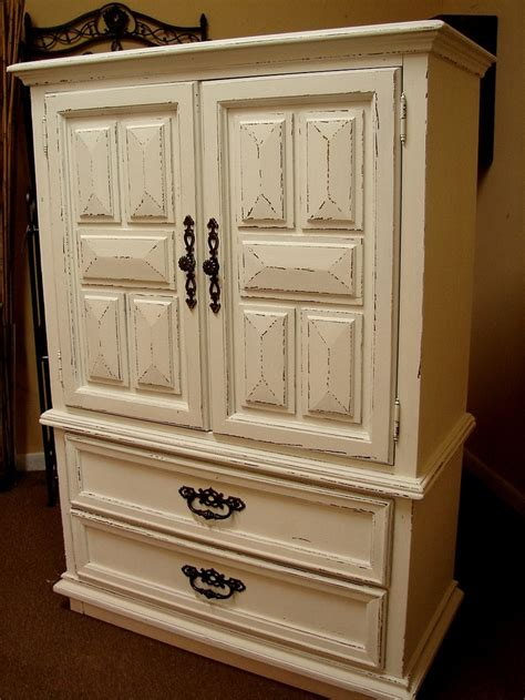 Comfortable Furniture White Chifferobe Armoire