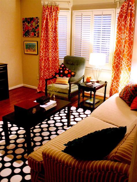 Orange And Black Living Room by Chic Window Treatment Ideas From Hgtv Fans Window