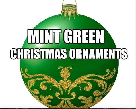 32 best mint green christmas ornaments images on pinterest