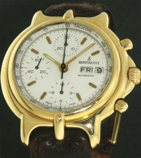 bertolucci 18kt pulchra 211 10882 pre owned mens watches