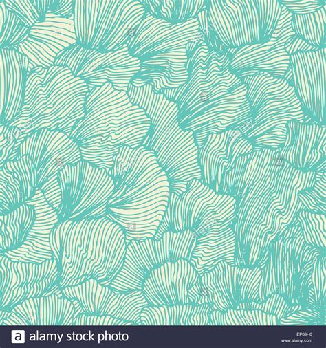 seamless ocean pattern wave seamless pattern in doodle style sea background