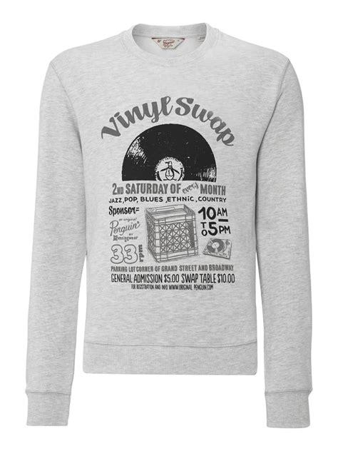 printable vinyl t shirt original penguin vinyl swap print t shirt in gray for men