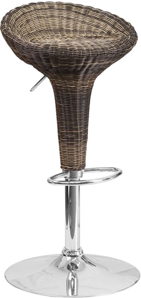 Low Back Wicker Bar Stools by Low Back Wicker Adjustable Height Barstool Ds 711 Gg