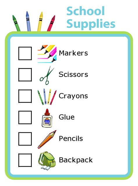 School Supplies For Mba by School Supplies Check List Hospi Noiseworks Co